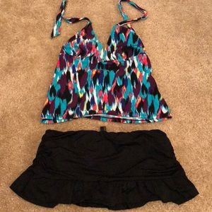 Tankini with skirt swimsuit